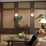 Плотные шторы из натурального бамбука