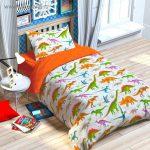 """Детский комплект для кроватки с рисунком """"Динозавры"""""""