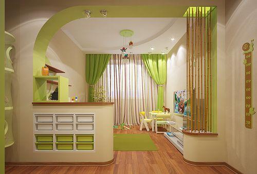 Комната в зеленых тонах
