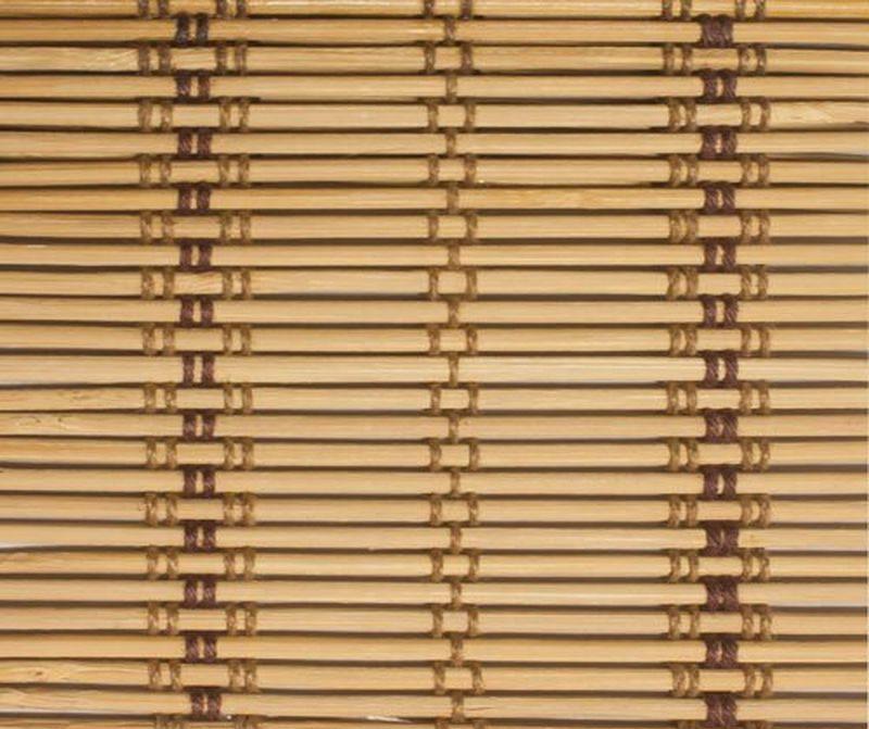 Полотно рулонной шторы Эскар из тонких бамбуковых планок