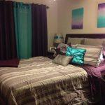 Фиолетовый и изумрудный для штор и покрывал - смелое сочетание