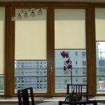 Закрытые рулонные шторы из белого материала