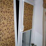 Пластиковое окно с рулонными шторами закрытого типа
