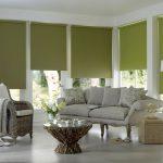 Рулонные шторы из ткани оливкового цвета