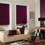 Темные рулонные шторы из плотной ткани