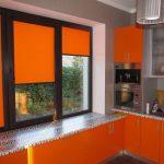 Оранжевый цвет в дизайне кухни