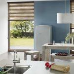 Дизайн кухни с окнами до пола