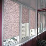 рулонные шторы с растительным принтом