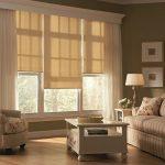Оформление окна с помощью рулонных штор