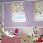 Мансардные окна в детской комнате