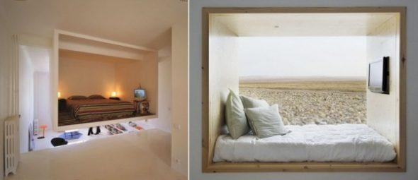 Спальня в нише без кровати