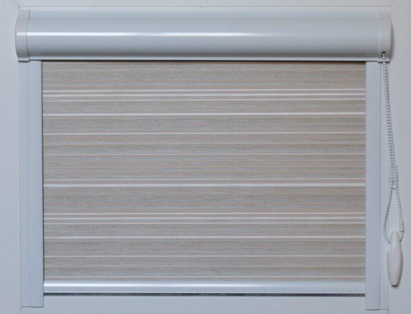 Внешний вид кассетной шторы закрытой конструкции