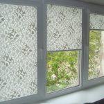 Растительный орнамент на кассетных шторах
