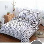 Комбинированный черно-белый постельный комплект
