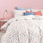 Комплект постельного белья с разноцветным геометрическим рисунком