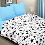 Комплект постельного со звездами из комбинированных тканей