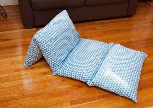 Как правильно сшить матрас из подушек