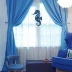 Насыщенный голубой для комнаты в морском стиле