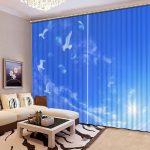 Небесные шторы с 3D рисунком