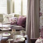 Пепельно-розовый - эффектно смотрится в гостиной