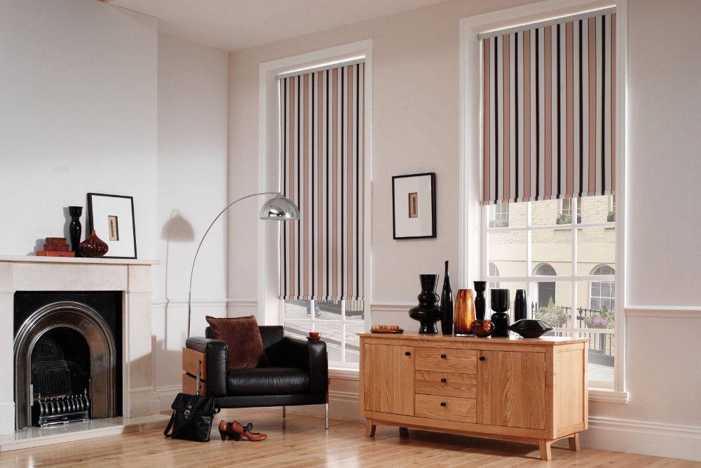 Рулонные шторы из полосатой ткани