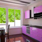 Кухонный гарнитур линейной планировки
