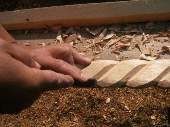 Делаем деревянную веревку