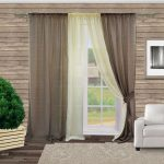 Простые двухцветные шторы