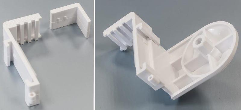 Пластиковые кронштейны для закрепления рулонной шторы на подвижной створке