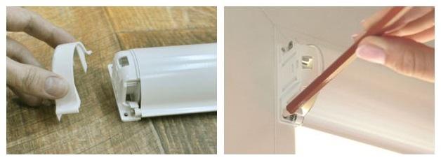 Разметка места крепления кассетной шторы своими руками
