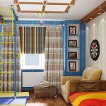 Дизайн детской комнаты со спортивным уголком