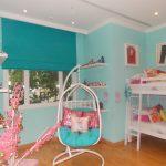 Подвесное кресло в детской комнате