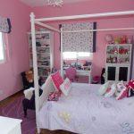 Розовые стены в спальне девочки дошкольного возраста