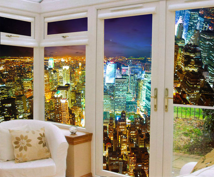 Оформление пластиковых окон рулонными шторами с фотопечатью