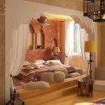 Спальня в нише в стиле марокко