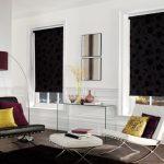 Рулонные шторы из плотной ткани черного цвета
