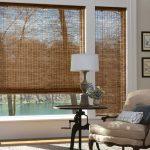 Рулонные шторы из бамбука с редким плетением