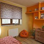 Дизайн спальни с одним окном