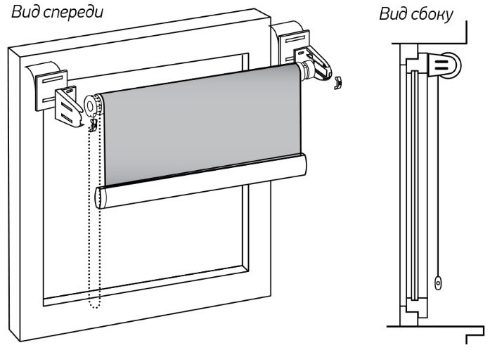 Закрепление шторы типа день ночь на пластиковой раме с помощью скотча