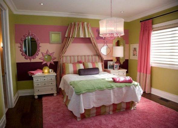 Зеленый и розовый цвета
