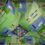 Зеленый комплект постельного из бязи