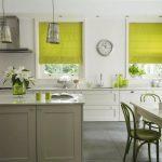Желто-зелные роллеты в кухню
