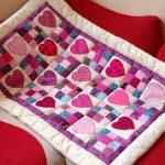Детское одеяло с сердечками