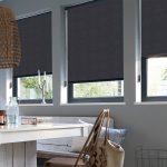 Серые шторы открытого типа