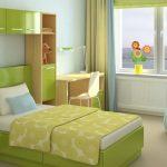 Дизайн детской с комбинированными занавесками
