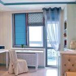 Римские шторы в интерьере детской комнаты