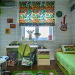 Кирпичная стена в дизайне детской