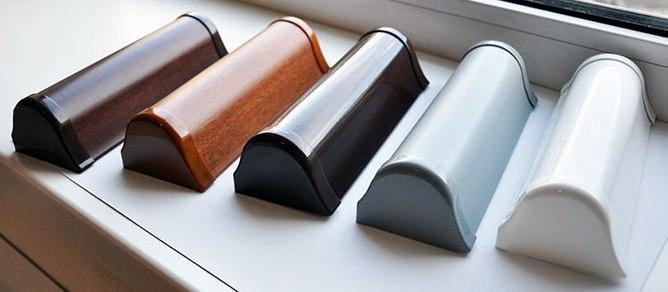 Пластиковые короба для рулонных штор закрытого типа