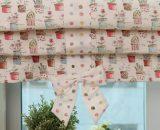 Красивая римская штора из двух типов ткани
