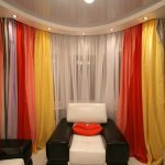 Красивые и яркие гардины для стильной гостиной